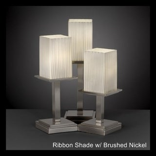 Justice Design Group Fusion Montana 3-light Nickel Table Lamp