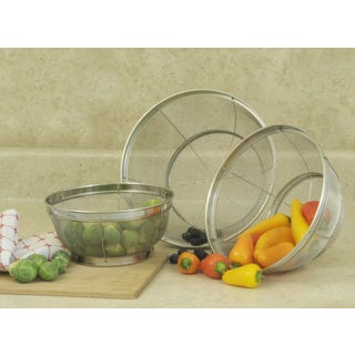 Mesh Stainless Steel Colanders (Set of 3)