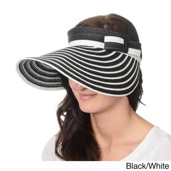 50e436fd Shop Magid Hats Women's Striped Roll-up Sun Visor - Ships To Canada ...