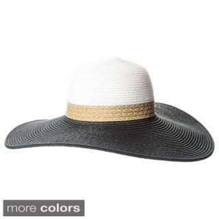 Magid Women's Colorblocked Wide-brim Floppy Hat