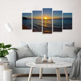 Christopher Doherty 'Sun Rise' Canvas Wall Art (5 Piece)