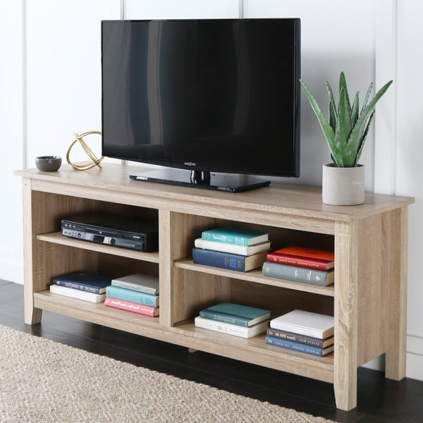 58 Inch Natural Wood Tv Stand Free Shipping Today
