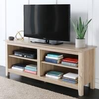 Havenside Home Jacksonville 58-inch Natural Wood TV Stand