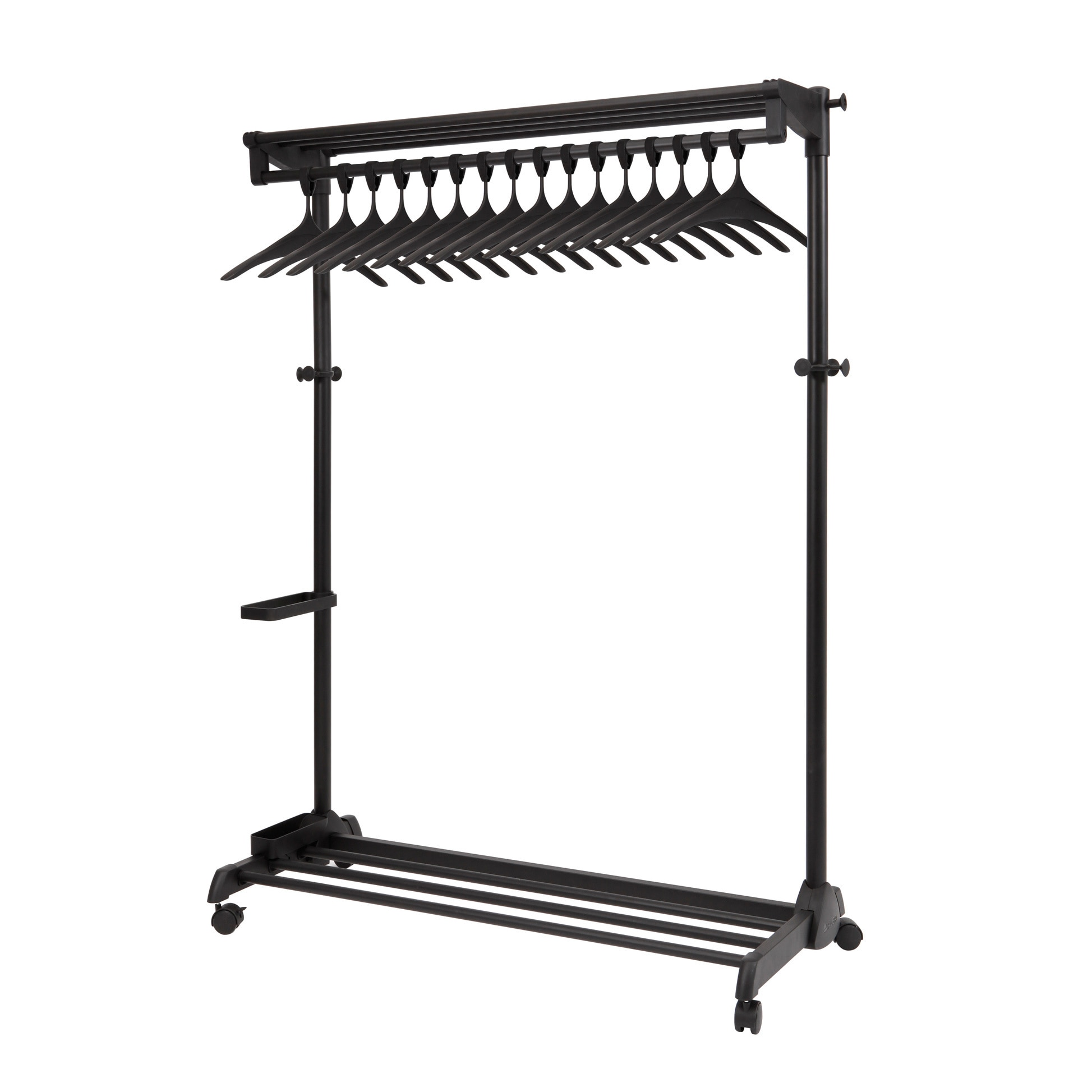 Alba Botanica Black Garment Rack with Theft Deterrent Han...