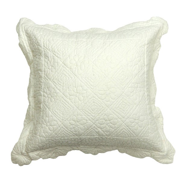 Carly White Patchwork Throw Pillow
