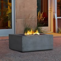 Glacier Grey Baltic Square LP Fire Table by Real Flame