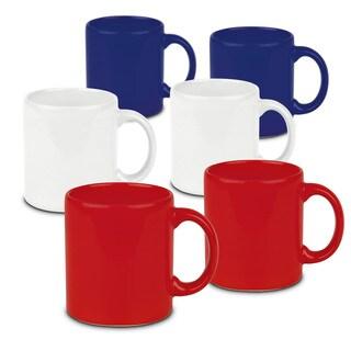 Waechtersbach Fun Factory Red White and Blue Mugs (Set of 6)
