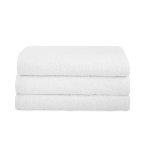 "Classic Turkish Cotton Towel Arsenal Luxury Oversized Bath Sheet Set of 3 - 30"" x 60"""