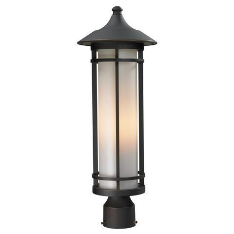 Avery Home Lighting Oil Rubbed Bronze/ Matte Opal Woodland Outdoor Light