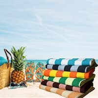 Salbakos Cabana Stripe Luxury Oversized Turkish Cotton Beach Towel