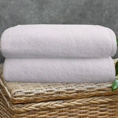 Classic Turkish Cotton Towel Arsenal Oversized Bath Sheet Set of 2