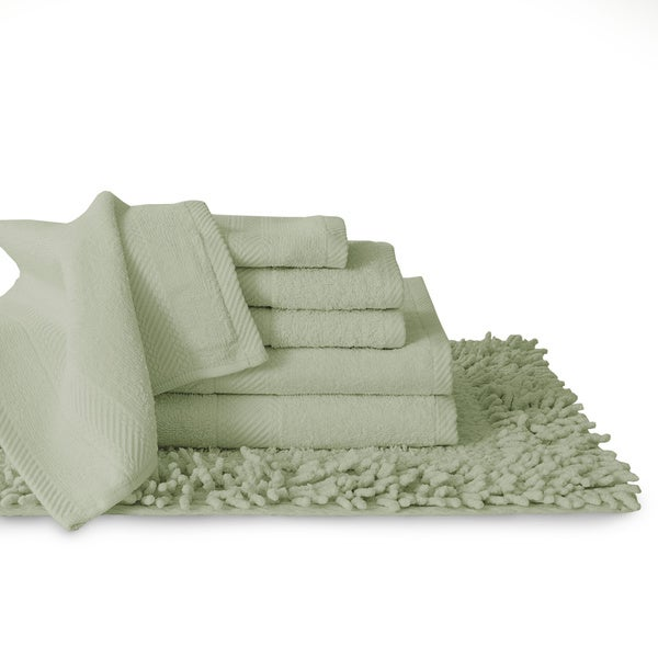 Cotton 7 Piece Matching Towel And Bath Rug Set 18 X 18