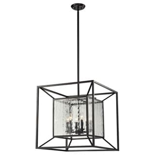 Home Cubix 6-light Oiled Bronze Pendant