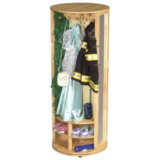 Guidecraft Natural Rotating Dress Up Storage Unit Free