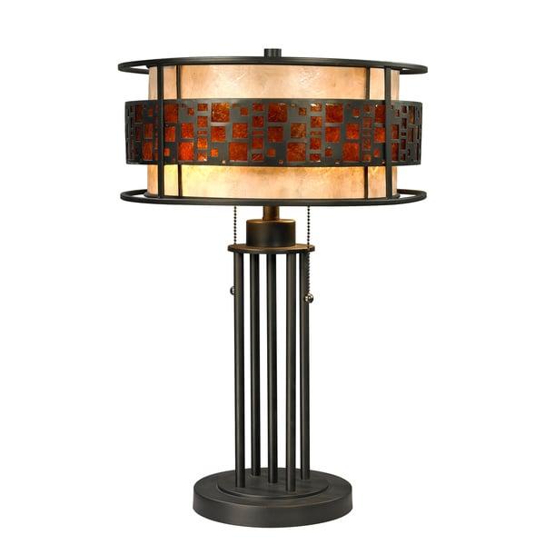Z-Lite Oak Park 2-light Java Bronze Table Lamp