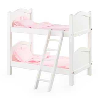 Guidecraft White Doll Bunk Bed|https://ak1.ostkcdn.com/images/products/9078365/Guidecraft-White-Doll-Bunk-Bed-P16269826.jpg?impolicy=medium