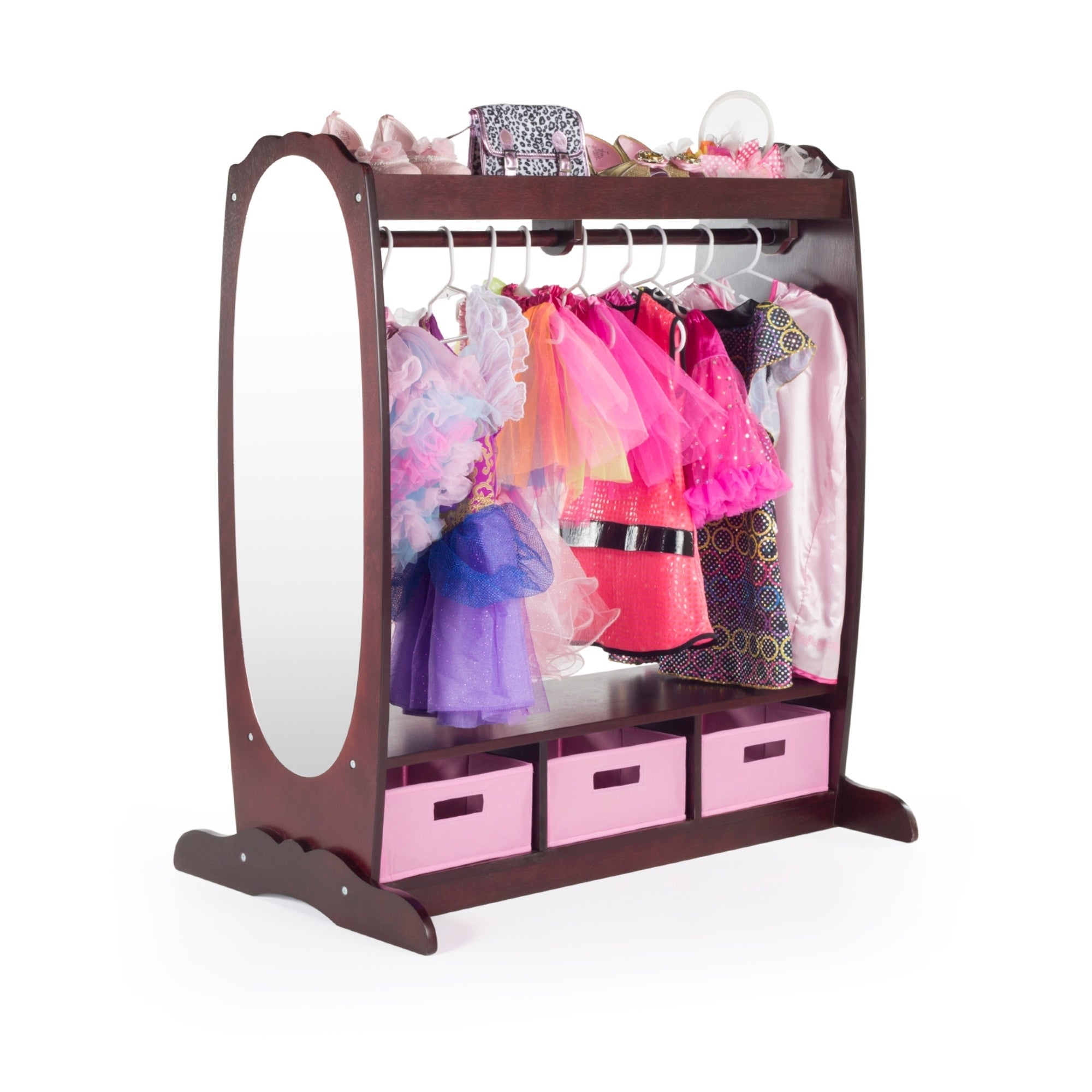 Guidecraft Espresso Dress Up Storage Center (Dress Up Sto...