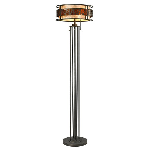 Avery Home Lighting Oak Park Java Bronze 3-light Floor Lamp