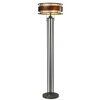 Z-Lite Oak Park Java Bronze 3-light Floor Lamp