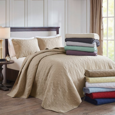 Madison Park Mansfield Reversible Bedspread Set (11-Color Option)