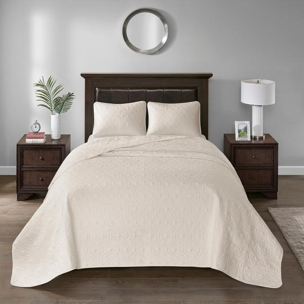 Madison Park Mansfield Oversized Bedspread Mini Set 9-Color Option