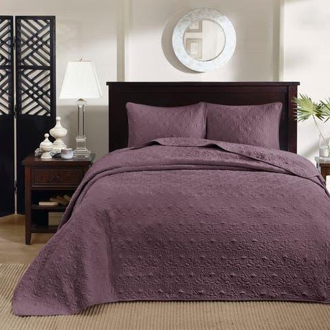 Madison Park Mansfield Reversible Bedspread Set (11-Color Option)