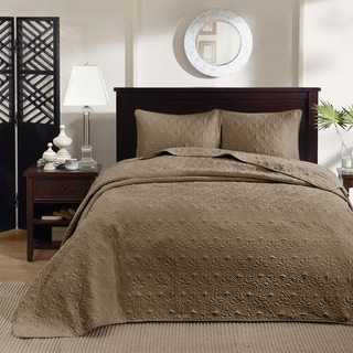 Madison Park Mansfield Reversible Bedspread Set (Queen - Mocha)