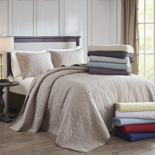 Madison Park Mansfield Oversized Bedspread 3-Piece Set (9-Color Option)