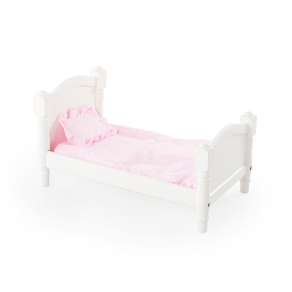 Shop Guidecraft White Finished Doll Bed Free Shipping