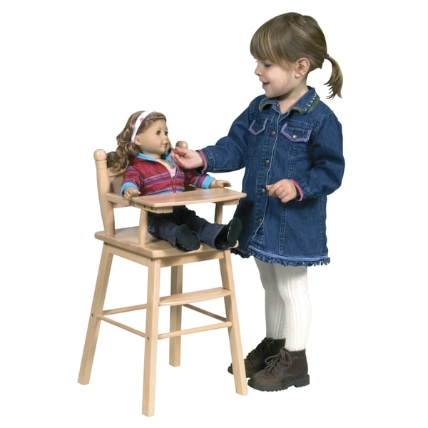 Guidecraft Natural Doll High Chair