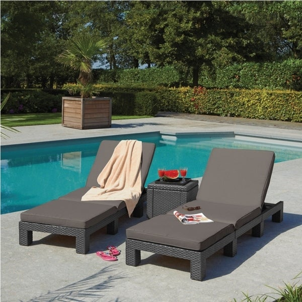 Daytona Outdoor Grey Sunlounger Free Shipping Today