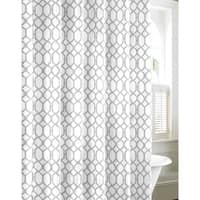 Tommy Bahama Shoretown Trellis Grey Cotton Shower Curtain