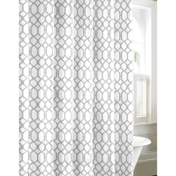Popular Tommy Bahama Shoretown Trellis Grey Cotton Shower Curtain - Free  UQ25