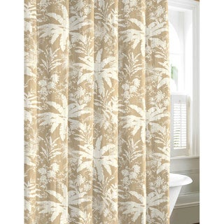 Tommy Bahama Bayloon Breeze Tan Cotton Shower Curtain