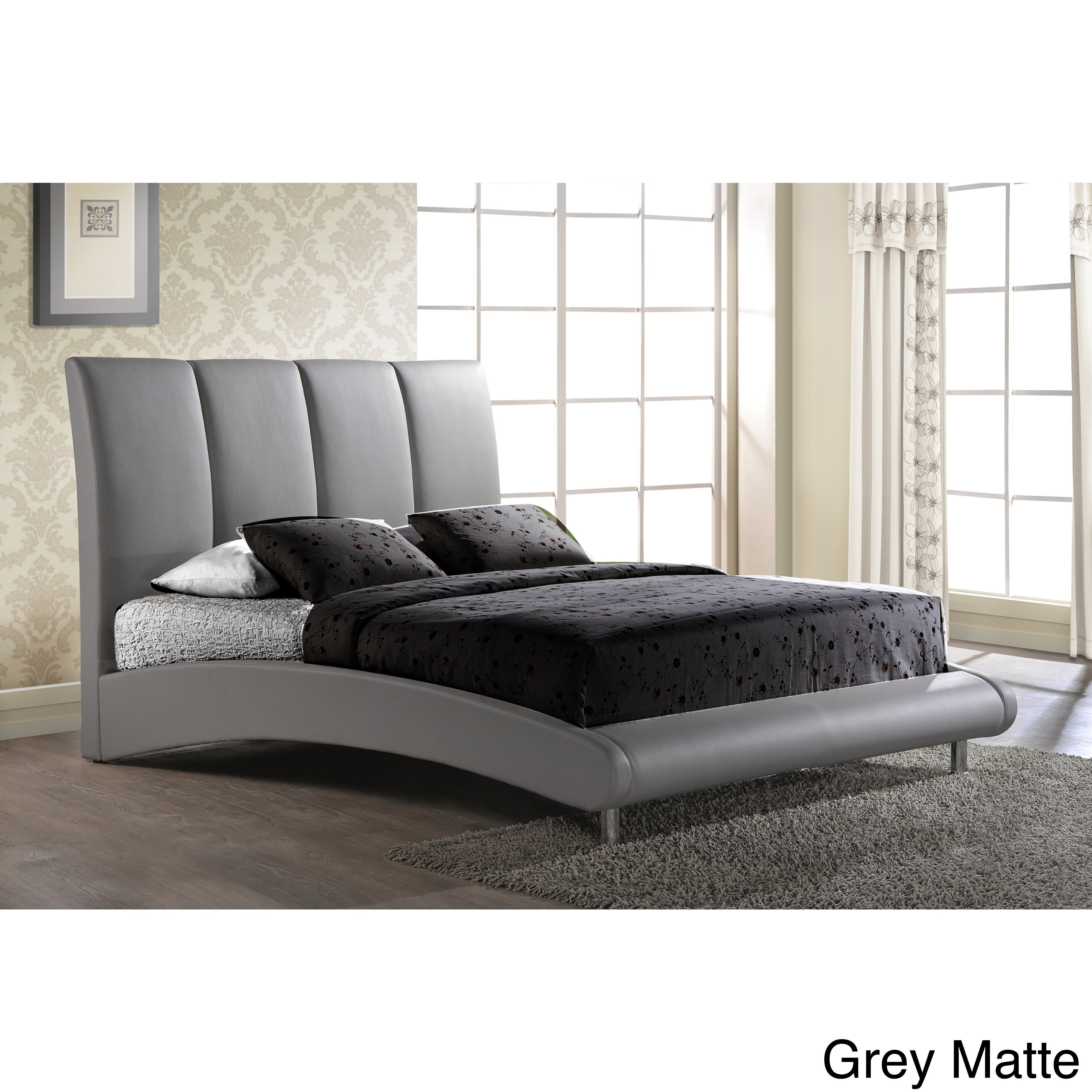 Global Queen-size Arched Base Bed (Grey)