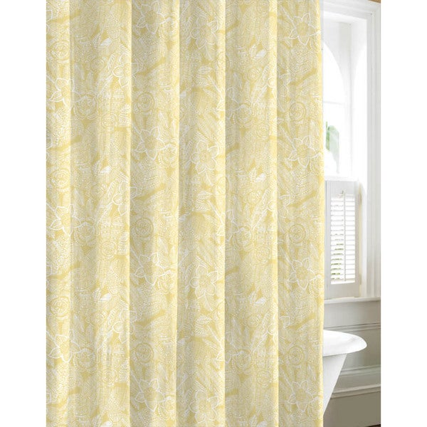 Navy And Gold Curtains Custom Print Shower Curtains