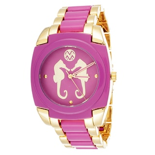 Macbeth Collection Seahorse Metal Pink Square Watch