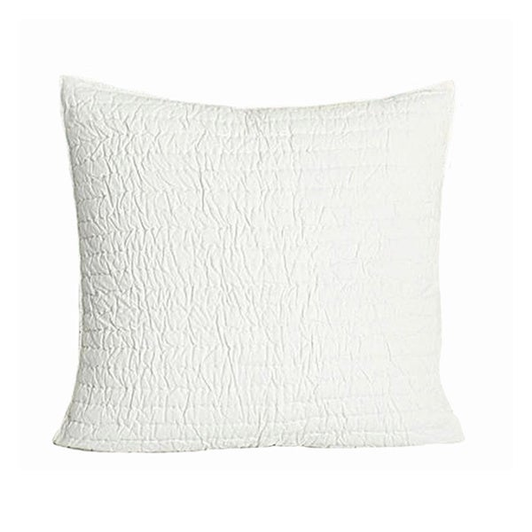 Brighton White Quilted Cotton Euro Sham