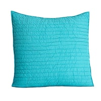 Brighton Teal Quilted Cotton Euro Sham