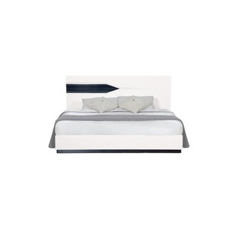 Hudson White/ Grey Queen Bed