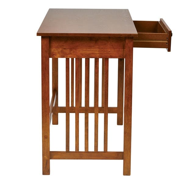 outlet store 92fbc 7798c Shop Mission Desk in Ash Oak Finish with Pull Out Drawer ...