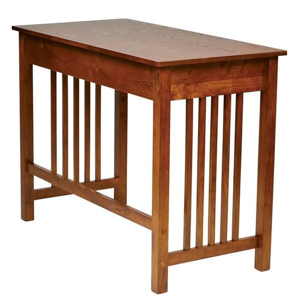 Osp Home Furnishings Mission Desk In Ash Oak Finish