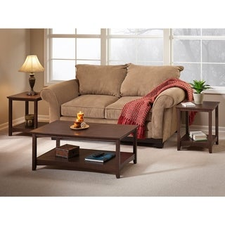 Buena Vista Coffee Table and Set of 2 End Tables in Madison Cherry