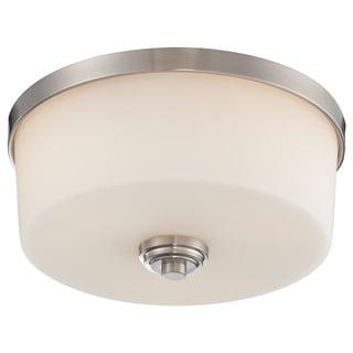 Z-Lite Lamina Brushed Nickel 3-light Flush-mount Light
