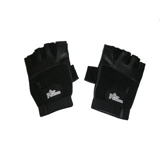 Power Up Weightlifter Fingerless Leather Gloves