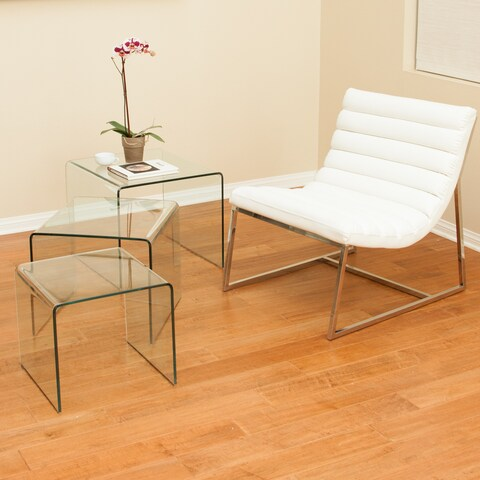 Ramona Glass Accent Tables (Set of 3) by Christopher Knight Home