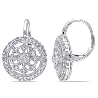 Miadora Signature Collection 14k White Gold 1/2ct TDW Diamond Earrings (G-H, SI1-SI2)