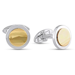 Miadora 10k Two-tone Gold Cuff Links