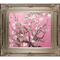 Vincent Van Gogh 'Branches of an Almond Tree in Blossom (pink)' Hand Painted Framed Canvas Art