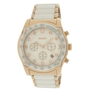 Roberto Bianci 5874U Rose Goldplated White Ceramic Chronograph Watch